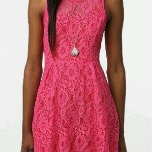thistlepearl Dresses & Skirts - Hot Pink Lace Dress